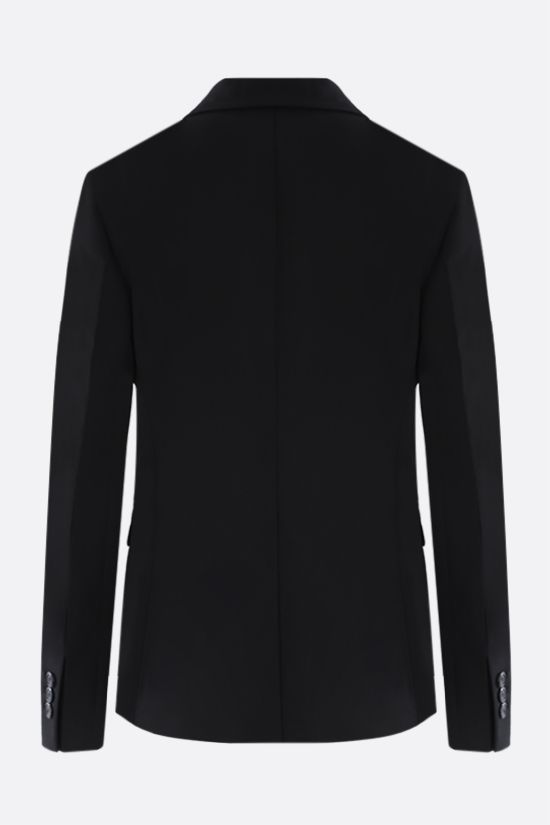 PRADA: single-breasted technical fabric jacket Color Black_2