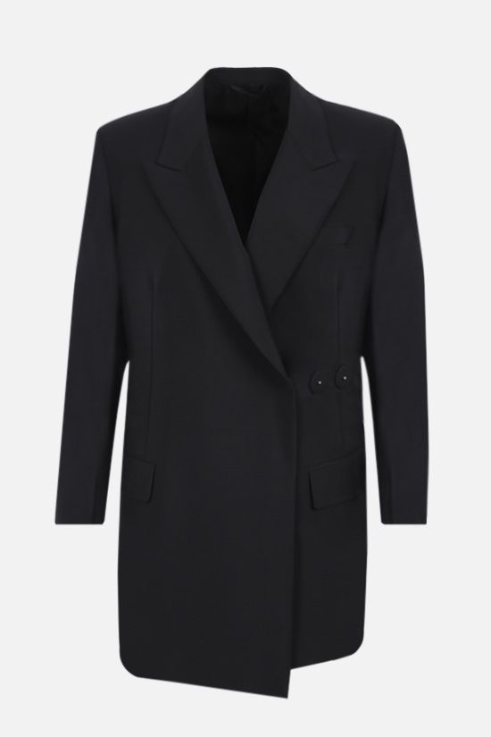 PRADA: double-breasted mohair wool blend jacket Color Black_1