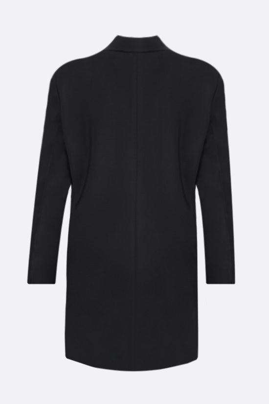 PRADA: double-breasted mohair wool blend jacket Color Black_2