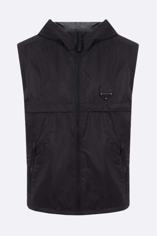 PRADA: logo-detailed Re-Nylon vest Color Multicolor_1