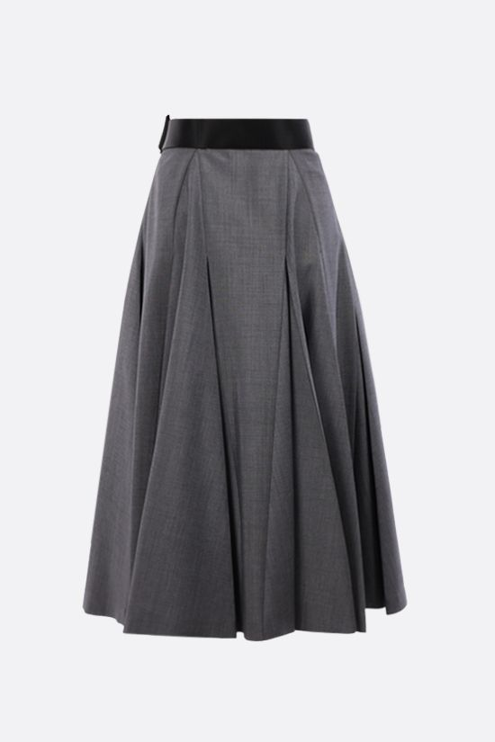 PRADA: mohair wool blend wrap skirt Color Grey_2