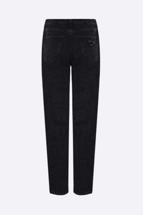 PRADA: jeans straight-fit con logo Colore Nero_2