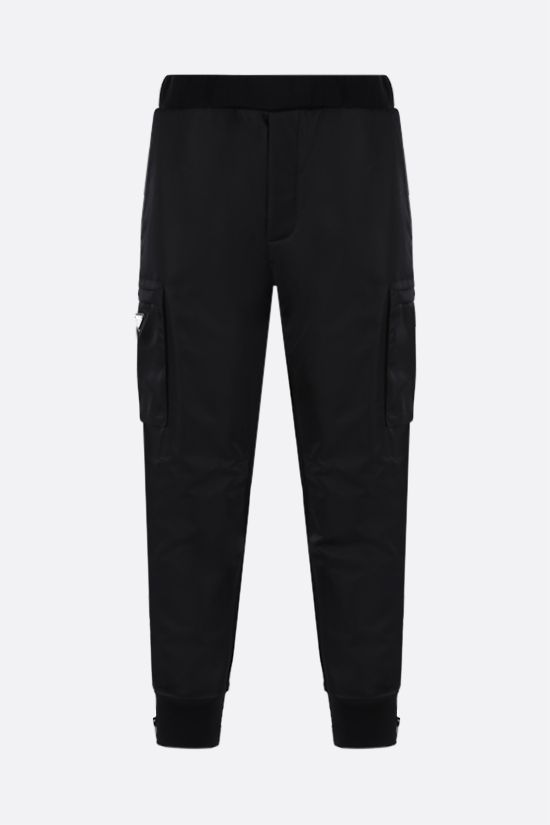 PRADA: pantalone jogging in jersey e Re-Nylon Colore Nero_1