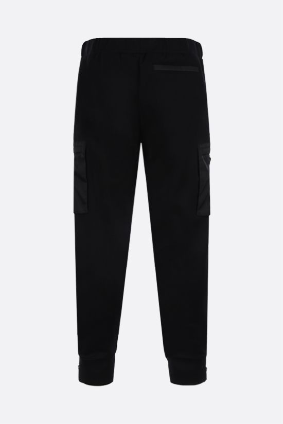 PRADA: pantalone jogging in jersey e Re-Nylon Colore Nero_2