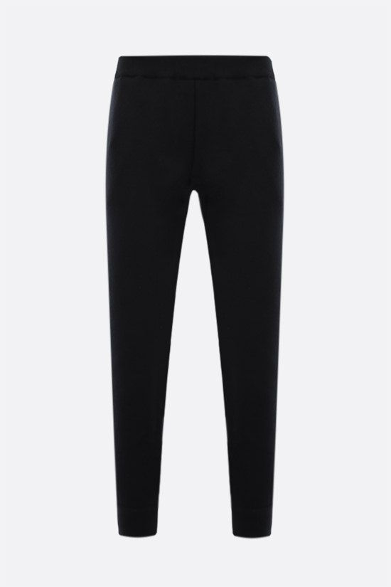 PRADA: wool cashmere blend joggers Color Black_1