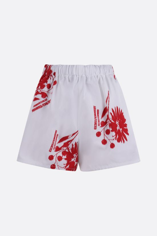 PRADA: printed poplin shorts Color White_1
