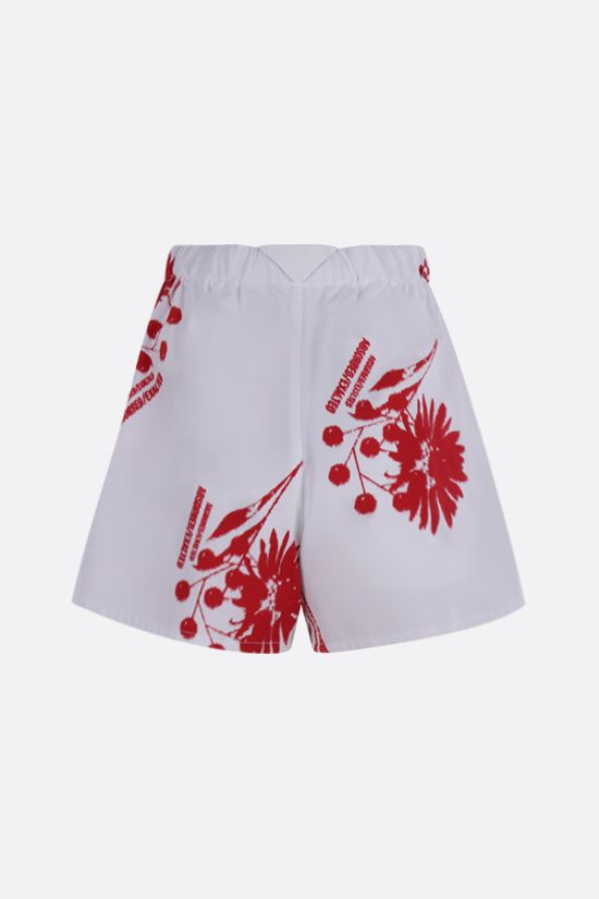 PRADA: printed poplin shorts Color White_2
