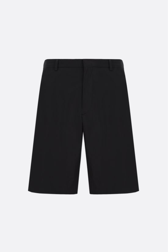 PRADA: technical poplin shorts Color Black_1