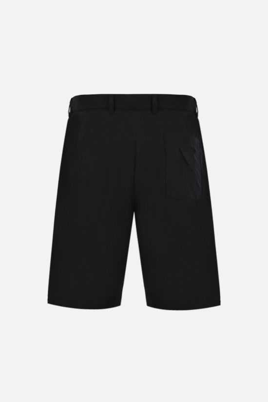 PRADA: technical poplin shorts Color Black_2