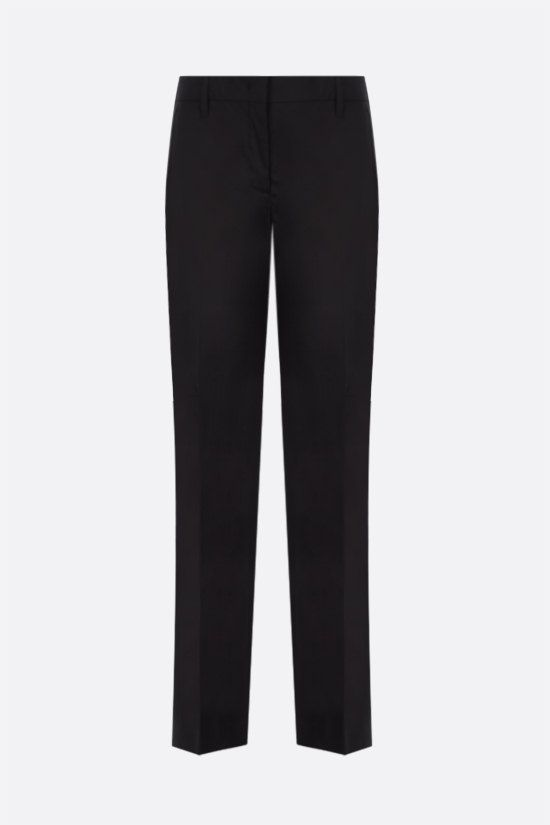 PRADA: stretch poplin cropped pants Color Black_1