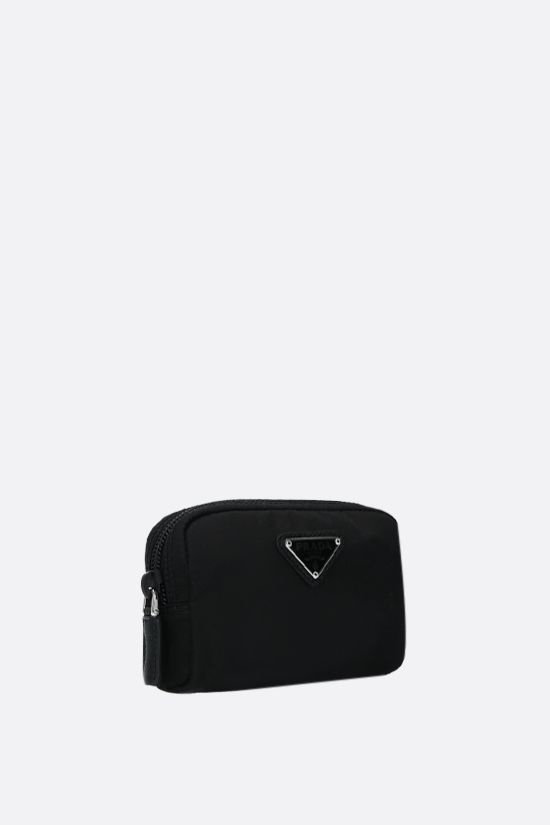 PRADA: logo-detailed nylon pouch Color Black_2