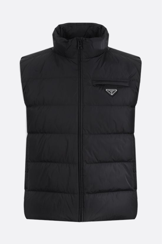 PRADA: Re-Nylon sleeveless down jacket Color Black_1