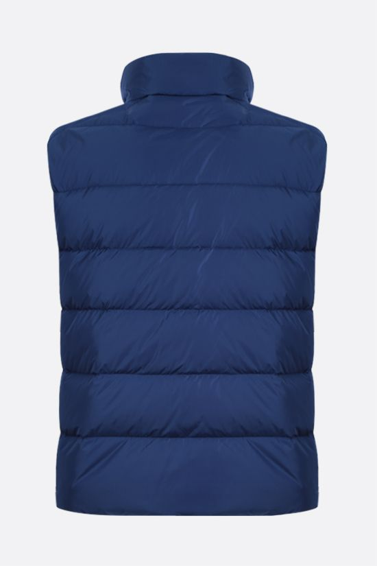 PRADA: Re-Nylon sleeveless down jacket Color Blue_2