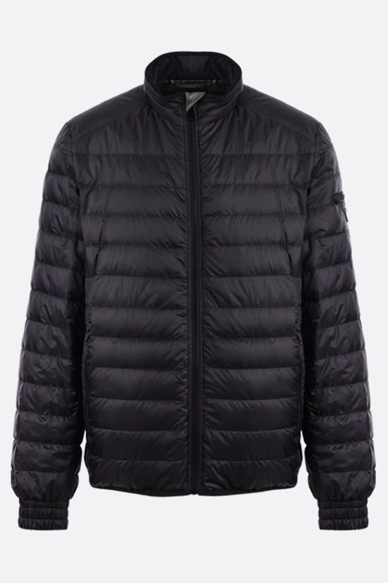 PRADA: recycled technical eggshell fabric down jacket Color Black_1