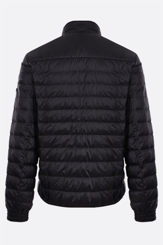 PRADA: recycled technical eggshell fabric down jacket Color Black_2