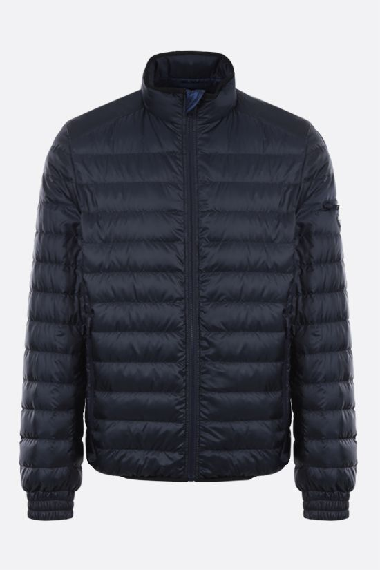 PRADA: recycled technical eggshell fabric down jacket Color Blue_1