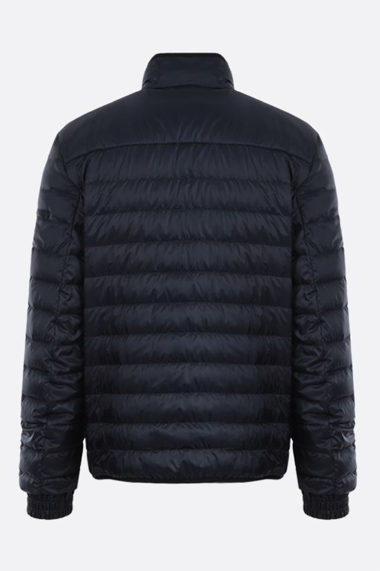PRADA: recycled technical eggshell fabric down jacket Color Blue_2