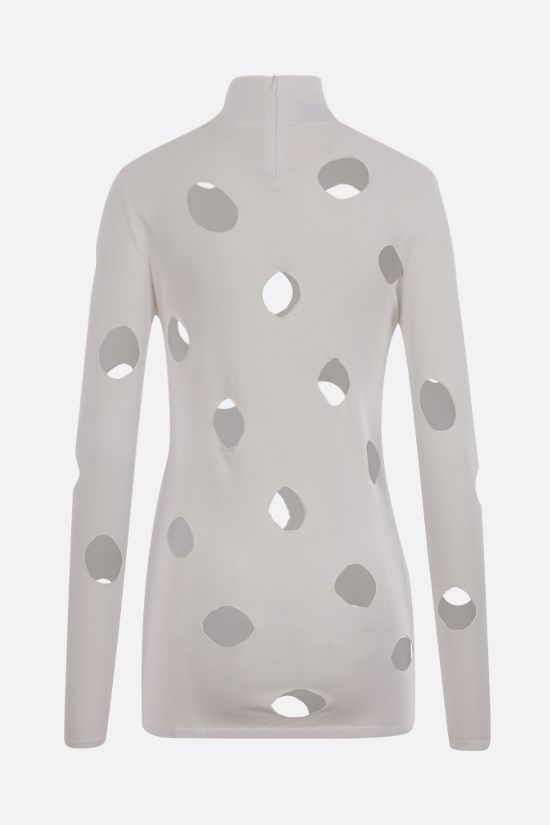 PRADA: cut-out technical knit pullover Color White_2