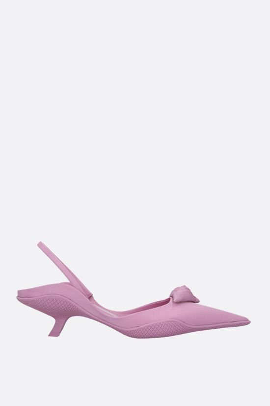 PRADA: flower triangle-detailed nylon slingbacks Color Pink_1