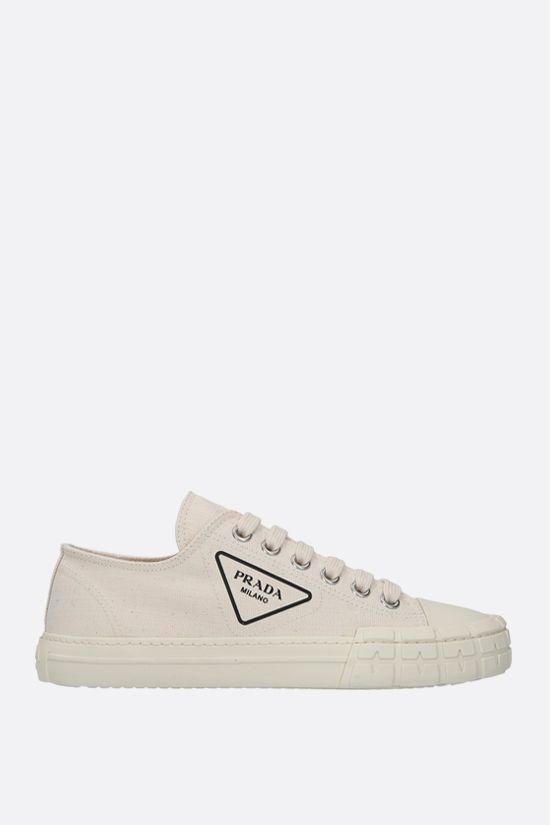 PRADA: Wheel canvas sneakers Color Neutral_1