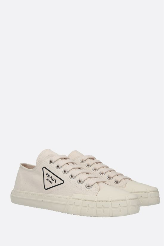 PRADA: Wheel canvas sneakers Color Neutral_2