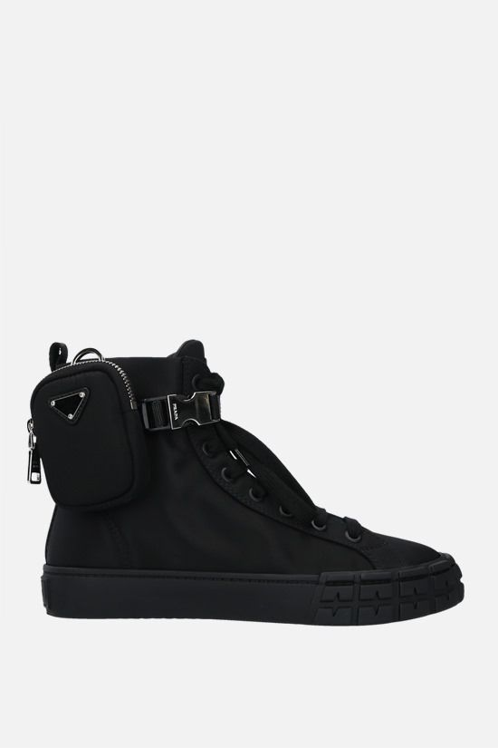 PRADA: Wheel Re-Nylon high-top sneakers Color Black_1