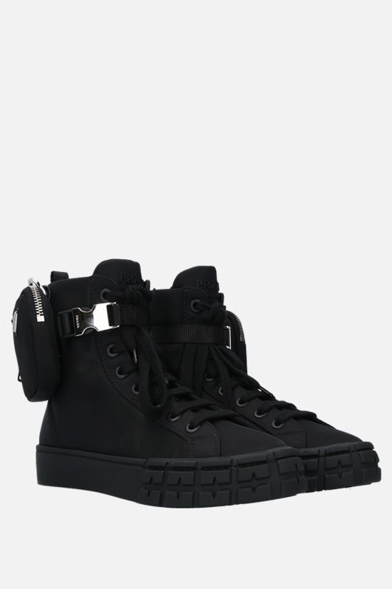 PRADA: Wheel Re-Nylon high-top sneakers Color Black_2