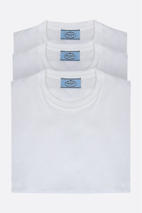 PRADA: 3 t-shirt pack in cotton jersey Color White_1