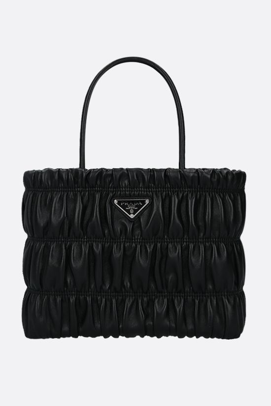 PRADA: quilted nappa shopping bag Color Black_1