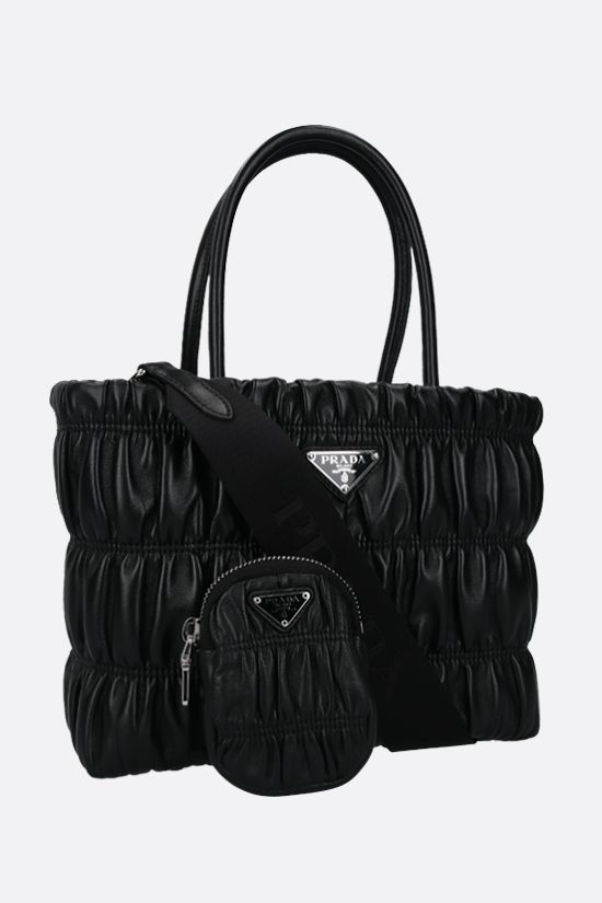 PRADA: quilted nappa shopping bag Color Black_2