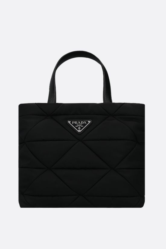PRADA: quilted nylon shopping bag Color Black_1