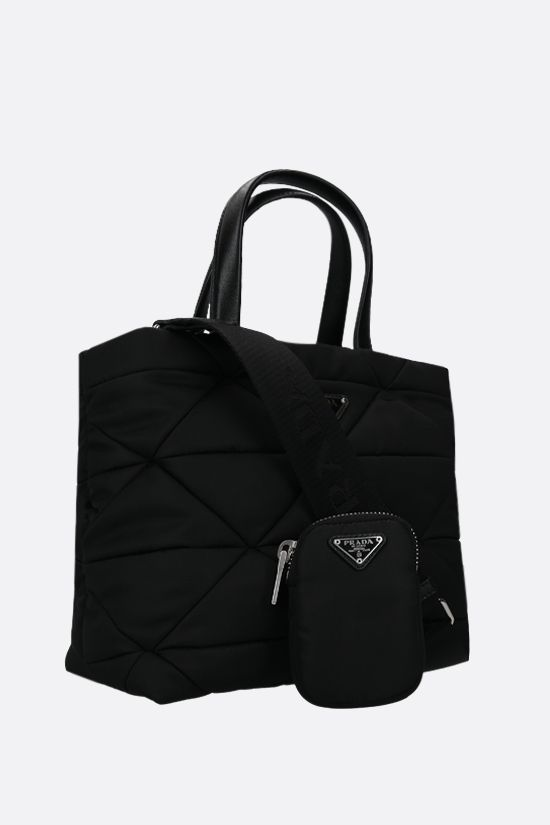 PRADA: quilted nylon shopping bag Color Black_2