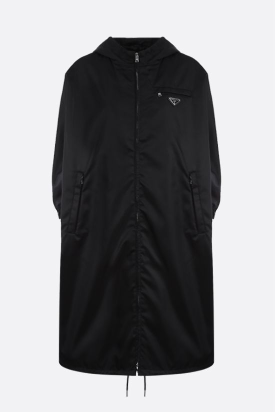 PRADA: impermeabile oversize in Re-Nylon Colore Nero_1