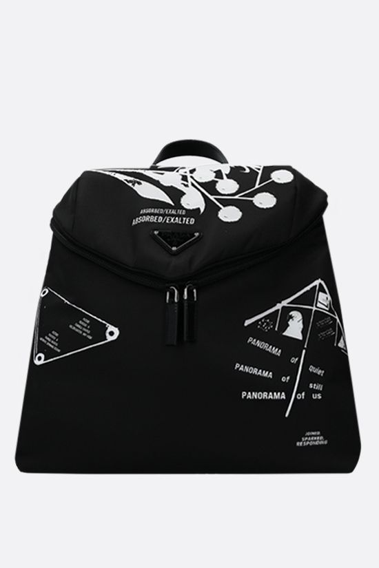 PRADA: Prada Signaux backpack in Re-Nylon Color Black_1