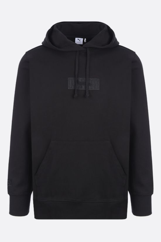 PUMA: Puma x Maison Kitsunè cotton hoodie Color Black_1