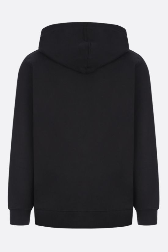 PUMA: Puma x Maison Kitsunè cotton hoodie Color Black_2
