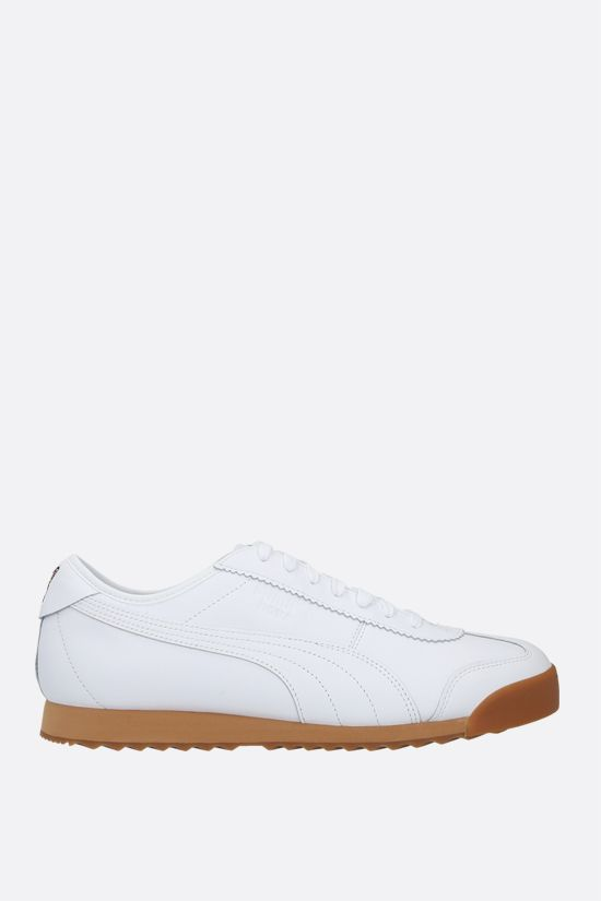 PUMA: Puma x Maison Kitsunè Roma smooth leather sneakers Color White_1