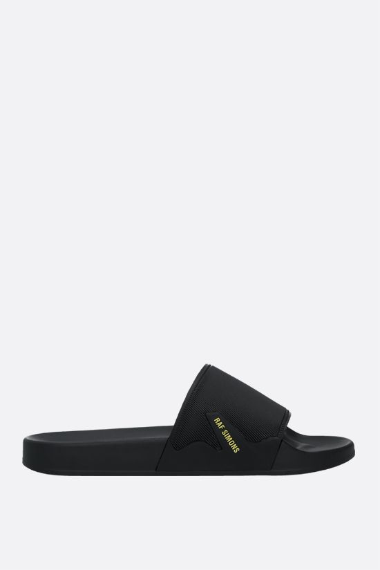 RAF SIMONS: Astra rubber slide sandals Color Black_1