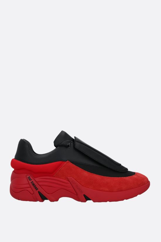 RAF SIMONS: Antei faux leather and nylon sneakers Color Black_1