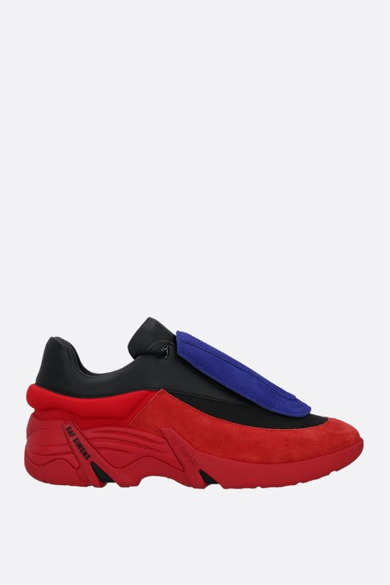 RAF SIMONS: Antei faux leather and nylon sneakers Color Black_2