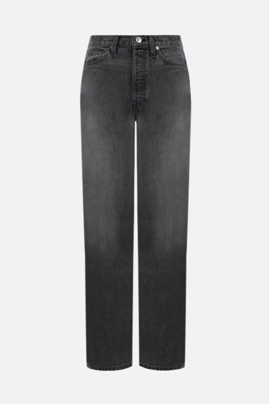 RE/DONE: High Rise Loose jeans Color Grey_1