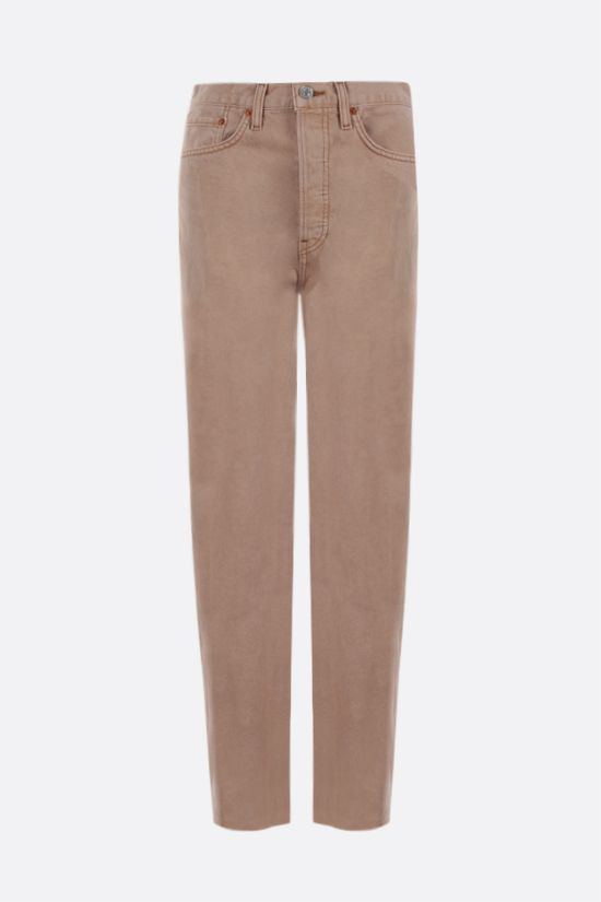 RE/DONE: Stove Pipe cropped jeans Color Neutral_1