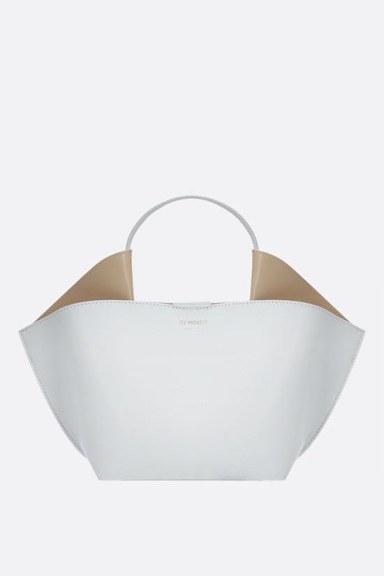 REE PROJECTS: Ann mini smooth leather tote bag Color White_1