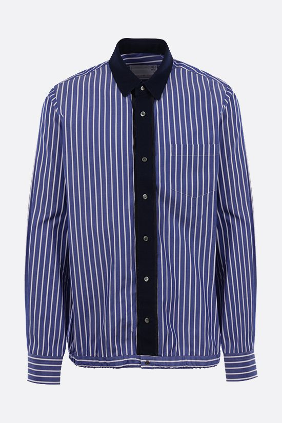 SACAI: striped cotton shirt Color Blue_1