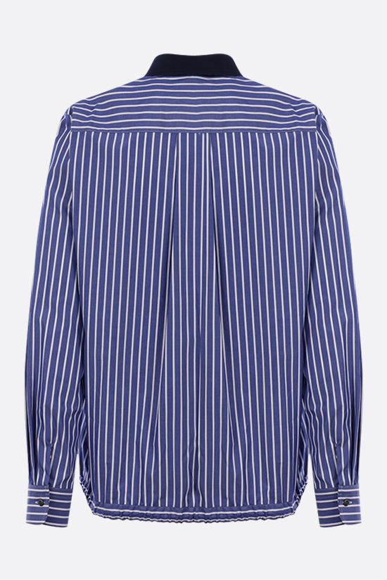 SACAI: striped cotton shirt Color Blue_2
