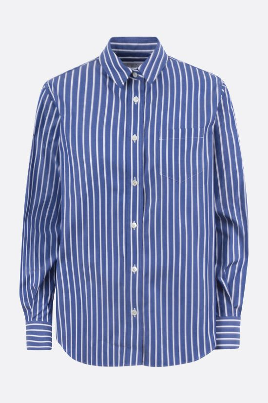 SACAI: striped cotton and chiffon shirt Color Multicolor_1