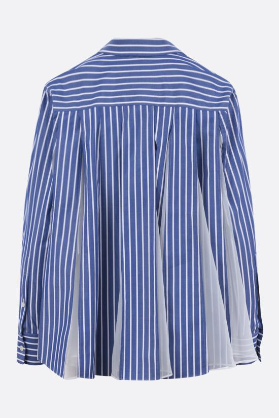 SACAI: striped cotton and chiffon shirt Color Multicolor_2