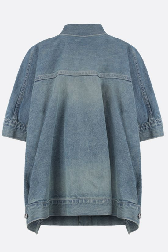 SACAI: short-sleeved oversize denim jacket Color Blue_2