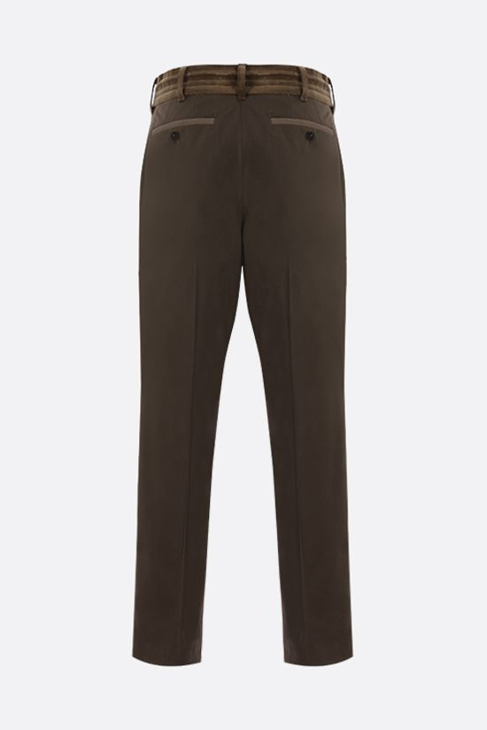 SACAI: technical wool pants Color Green_2