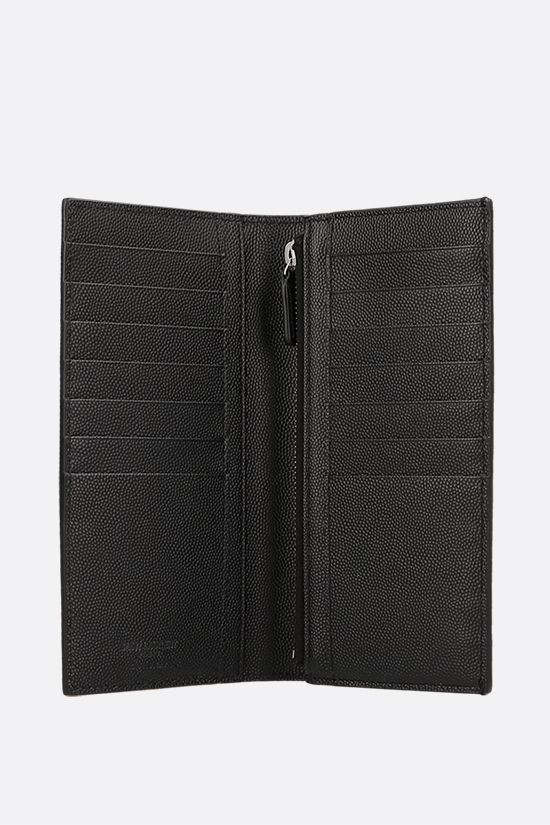 SAINT LAURENT: Saint Laurent Grain de Poudre leather wallet Color Black_2